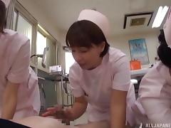 Japanese nurses suck dicks and make patients happy