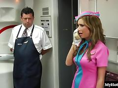 Lexi Love and Sunny Lane are hot flight attendants