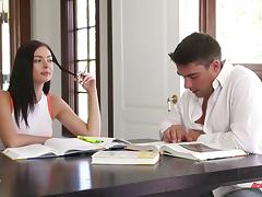 Marley Brinx gives up studying for an aggressive fuck