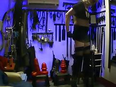sit on the ass servant in kinky long boots.