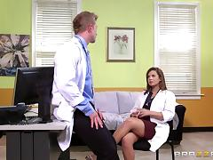 Resident slutty doctor loves getting fucked in the hospital