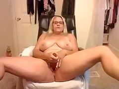 Blonde, BBW, Big Tits, Blonde, Masturbation, Solo