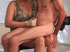 Older, Gloves, Handjob, Mature, Old, Older
