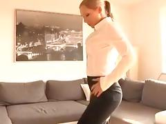 German girl fucked on coach