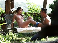 Her dreamy tight body is his to fuck in erotic outdoor porn