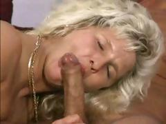 Chunky mature blonde poses then boinks a dirty photographer