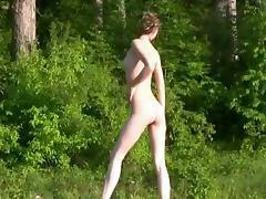 Nastya - in the woods
