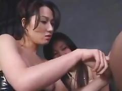 Hot Japanese 2 on 1 femdom