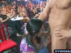 Birthday girl sucks stripper cock