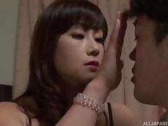japanese milf seduces young man