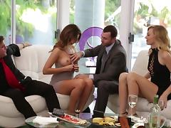 Undressing, Foursome, Friend, Party, Swingers, Undressing