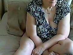 55 yo granny on webcam