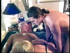 Short haired blonde makes out with her associates from work