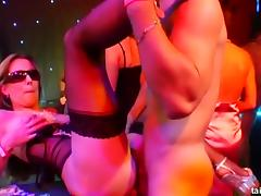 Bitchy pornstars fuck in a casino