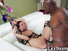 Horny brunette Aidra Fox gets her pussy destroyed by Lex