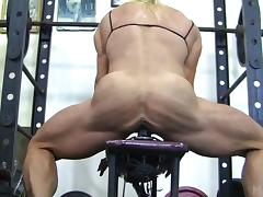 Gymnast, Dildo, Fucking, Gym, Muscle, Toys