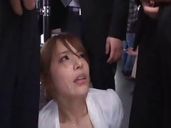 Bunch of guys are ready to provide the Japanese chick with their cocks