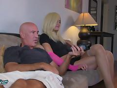 Guy blows a shemale then bends her over and fucks her ass