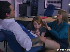 Mom and Boy, Blowjob, Boss, Ffm, Fucking, Hardcore