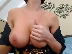 I'm caressing my body in homemade masterbation clip