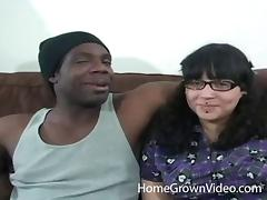 Fat Latina pussy fucked by a big black cock that loves her hot hole