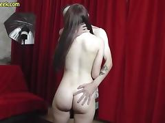 Teen pussy teases strangers cock during photoshoot