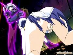 Shemale hentai gets sucking her bigcock