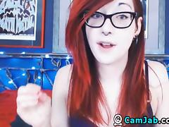 Sexy Redhead Teen Masturbates With A Dildo
