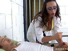 MILF prison doctor gets fucked by an inmate with a big dick