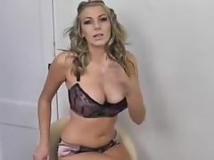 Hot blonde babe sucking your cock.