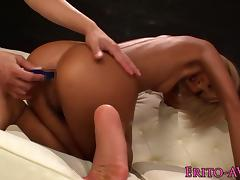 Doublepenetrated asian creampied in trio