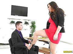 Boss, Australian, Boss, Leather, Naughty, Office