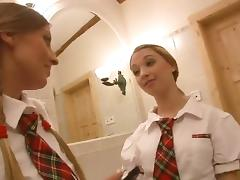 college girl schoolgirls share cock