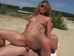 Nude Beach - Hot Blond Analised