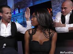 Black bar slut gangbanged by a bunch of white guys