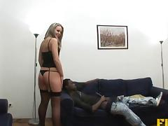 Big white butt needs a fat black cock to fuck it