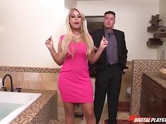MILF real estate agent fucks a younger professional guy to sell a house