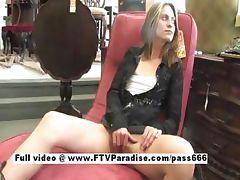 Lovely Teen blonde masturbating in public settings