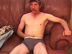 Amateur Mature Man Reggie Jacks Off and Cums - WorkinMenXxx