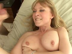 Beautiful mature babe catches him jerking off and fucks him