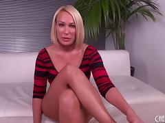Milf babe sucks dick and balls before he fucks her