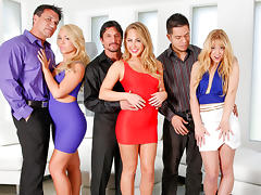 Lucy Tyler & Katarina Kay & Carter Cruise & Tommy Gunn in Neighborhood Swingers #12, Scene #02