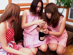 Adorable girls from Japan suck dick and get fucked lustily