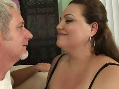 BBW cock whore sucking dick and fucking her man