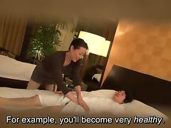 Japanese milf massage therapist seduction in HD