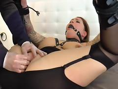 Inked beauty fisted and squirting