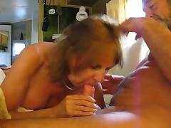 Pierced nipple tugging