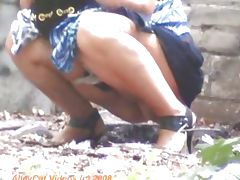 Golden Shower, Fetish, Hidden, Outdoor, Peeing, Pissing