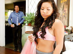 Dad, Asian, College, Small Tits, Dad, Father