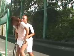 Tennis Court Asian Public Sex